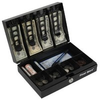 Amazon.com: First Alert 3026F Cash Box with Money Tray, Black: Home Improvement