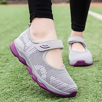 2021 Sneaker Women Fashion Flat Platform Shoes Woman Breathable Mesh Tenis Casual Sneakers Women Zapatos Mujer Ladies Boat Shoes