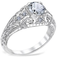 Whitehouse Brothers Romanesque Arcade Engagement Ring