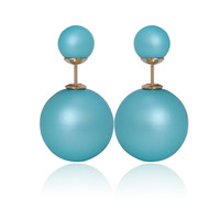 Gum Tee Mise en Style Tribal Earrings - Matte Marine Blue