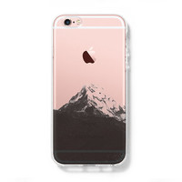 Snow Mountain iPhone 6S case iPhone 6 plus Clear Case iPhone 5s 5 Case iPhone 5C Cover Hard Transparent iPhone Case C0002