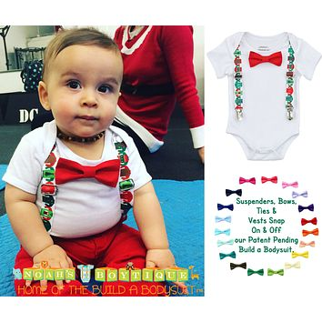 Ugly Sweater Party Christmas Outfit for Baby Boys