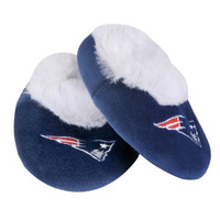 New England Patriots Official NFL Baby Bootie Slippers
