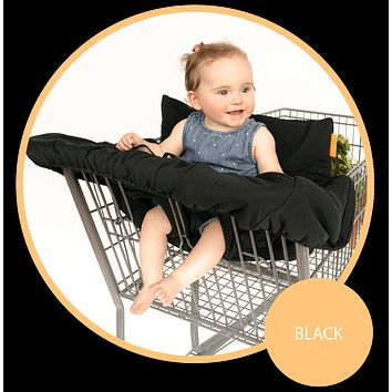 Baby Shopping Cart Cover - Black