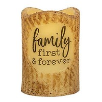 Family First & Forever Battery LED Pillar Candle