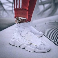 Balenciaga Woman Men Fashion Breathable Sneakers Running Shoes-3