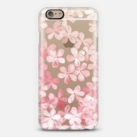 Spring Blossoms - pastel pink & cream floral painted pattern on transparent iPhone 6 case by Micklyn Le Feuvre | Casetify