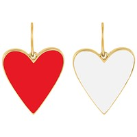 Double Sided Enamel Red X White Heart Charm