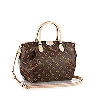 LV Women Shopping Leather Tote Handbag Shoulder Bag Authentic Louis Vuitton Monogram C