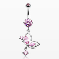 zzz-Darling Butterfly Belly Button Ring