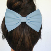 Hair Bow Clip LIGHT BLUE hair accessories women girls cheer gifts for her party