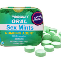 Oral Sex Mints with Numbing Agent