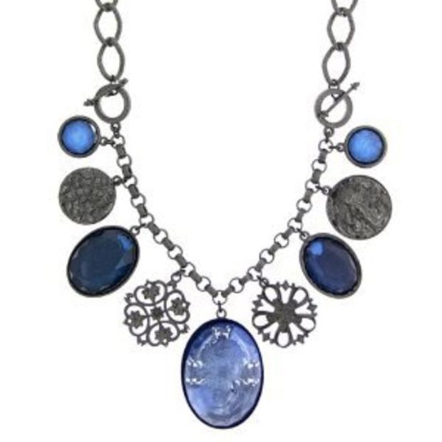 2019 New Style Venetian Chain 333 White Gold 1,2 Mm 36 Cm Pendant With 4 Blue Gemstones Other Fashion Jewellery