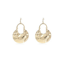 River Island Womens Gold tone dangle disc earrings
