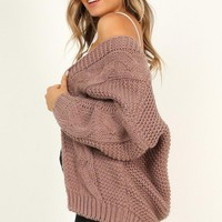 Call It Love Cardigan In Mocha Produced By SHOWPO