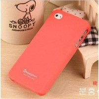 Amazon.com: (HK) Peach Red Profusion Candy Color Silicone Rubber Protector Protective Case Cover for iPhone 4 4G 4S: Electronics