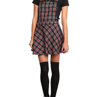 Royal Bones Plaid Jumper Dress | Hot Topic