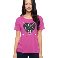 Glam Hi-Low Graphic Tee by Juicy Couture