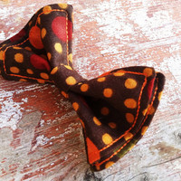 Thanksgiving Spots and Dots Bow Tie Newborn to 5t