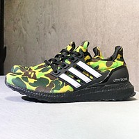 Adidas Ultraboost New fashion camouflage men sports leisure shoes