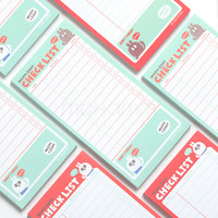 1 Pics Checklist To Do List Post It Planner Stickers Paper Sticky Notes Cute Korean Stationery Office Supplies