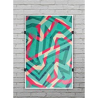 Trippy Retro Pattern - Ultra Rich Poster Print
