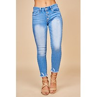 Fearless Now Distressed KanCan Jeans (Light Wash)