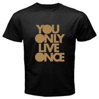 YOLO You Only Live Once Basic Tee Black T-Shirt