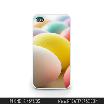 Easter iPhone Case, iPhone 5, iPhone 5C, iPhone 4S, Easter Eggs, Spring time, Yellow iPhone Case, Personalized iPhone Cover -E001