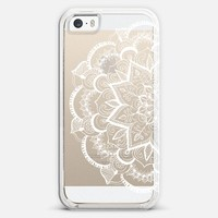 White Feather Mandala on Clear iPhone 6 case by Tangerine- Tane | Casetify