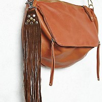 Understated Leather Womens Suede Fringe Key Ring