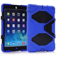 Military Extreme Heavy Duty WATERPROOF SHOCKPROOF DEFENDER CASE Cover For iPad Air Mini 2 3 4 5 STAND Holder Hybrid Cases High Quality Q1