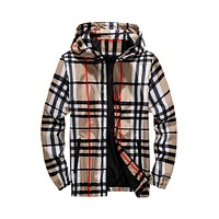 Berry Unisex Checkered Windbreaker Jacket