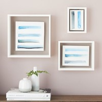 Floating Gallery Frames - White Lacquered Wood