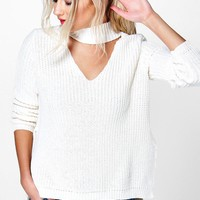 Lena Strap V Neck Oversized Jumper