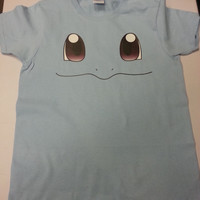 Inspired by Squirtle face Pokemon T-shirt Men's Women's kids
