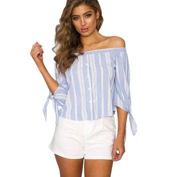 Lily Rosie Sailor Off The Shoulder Top