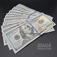 30x $100 Bills - $3,000 - New Style Prop Money