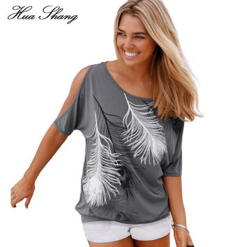 Women Summer Off Shoulder Top Loose Plus Size FREE SHIPPING