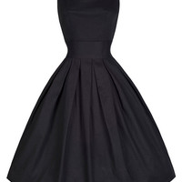 Black Sleeveless Sheath Tent Mini Dress