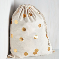 Pastel Pizzazz Good as Gold Laundry Bag by ModCloth