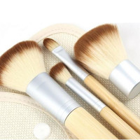4pcs/set  Bamboo Makeup Brush Set