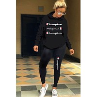CHAMPION Two Pieces Hoodies Pants Sportswears