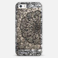 Shades of Crystal Grey Transparent Doodle iPhone 5s case by Micklyn Le Feuvre | Casetagram