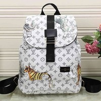 Tagre™ Perfect LV Louis Vuitton Leather Travel Bag Backpack