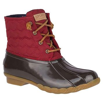 Women's Saltwater Quilted Chevron Duck Boot by Sperry