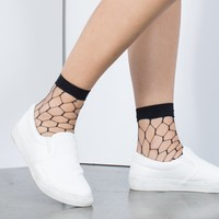 Hexagon Ankle Socks