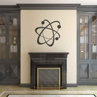 Physics Chemistry Atom Silhouette Vinyl Wall Decal Sticker Graphic