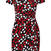 Diane von Furstenberg Zoe printed cotton and silk-blend jersey dress – 50% at THE OUTNET.COM