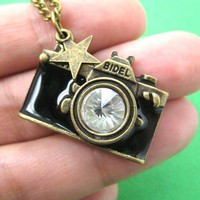 Camera Lens Pendant Necklace in Brass | Perfect for Photographers and Photography Fans